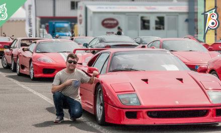 Encontro de Ferrari e outros clássicos na França