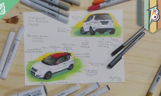 Ilustração do projeto de personalização do próprio carro!