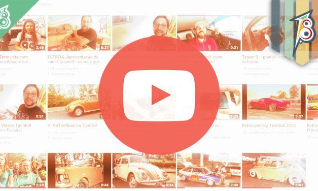 Canal da 1ponto8 no YouTube já está no ar!
